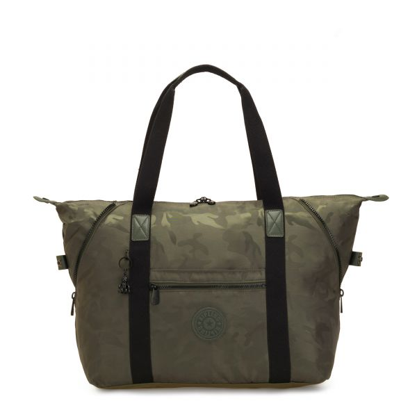 ART M Satin Camo TOTE by Kipling Front
