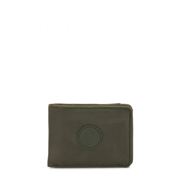 MONEY KEEPER Satin Camo WALLETS by Kipling Front