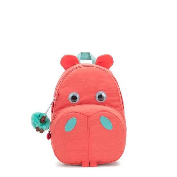 HIPPO Peachy Pink C BACKPACKS by Kipling Front