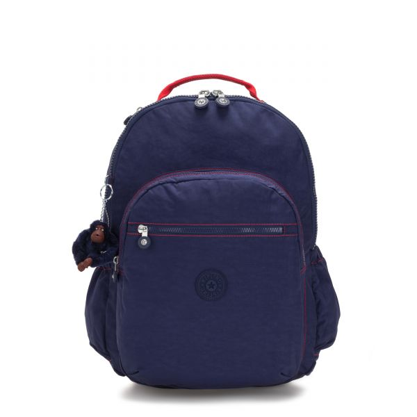 SEOUL GO XL Polished Blue C BACKPACKS by Kipling Front