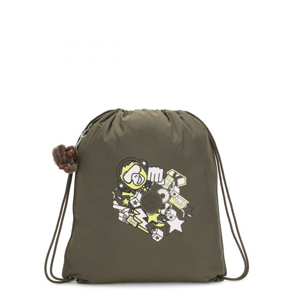 SUPERTABOO LIGHT Garden Grey Fun BACKPACKS by Kipling Front