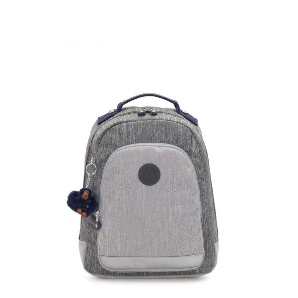 CLASS ROOM S Ash Denim Bl BACKPACKS by Kipling Front