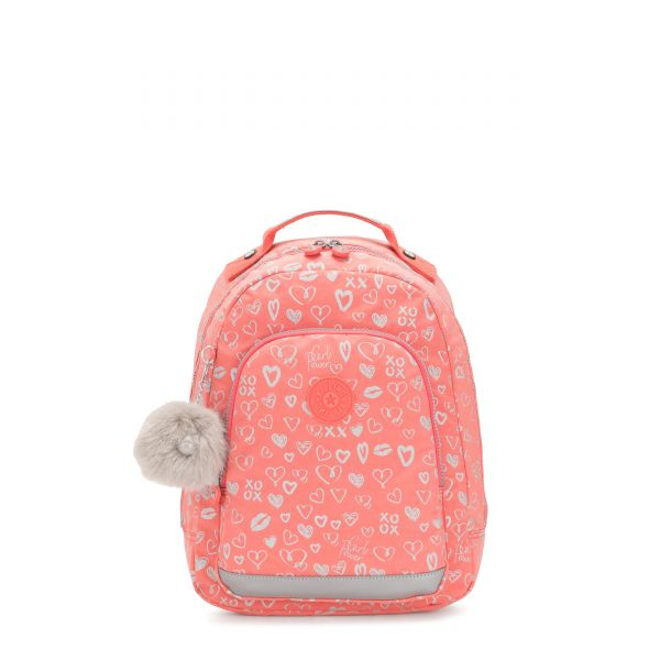 CLASS ROOM S Hearty Pink Met BACKPACKS by Kipling Front