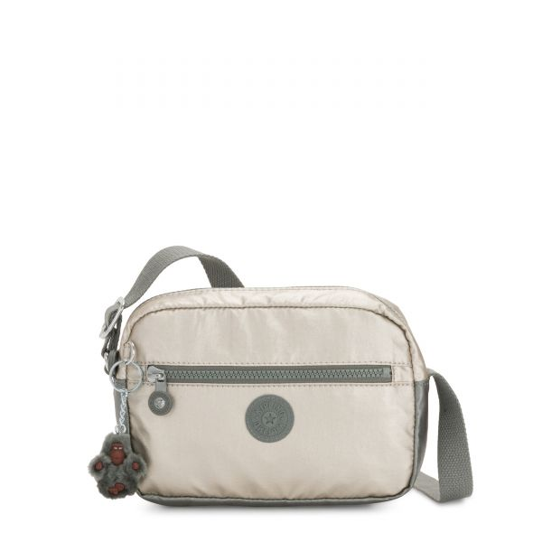 ROBIN Metallic Stoney Color Block SHOULDERBAGS by Kipling Front