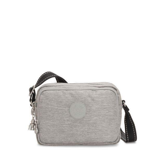 SILEN Chalk Grey CROSSBODY by Kipling Front