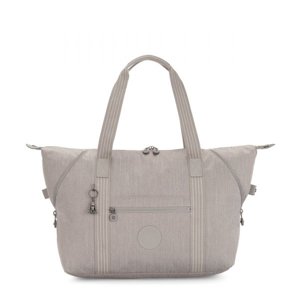 ART M Grey Beige Peppery TOTE by Kipling Front