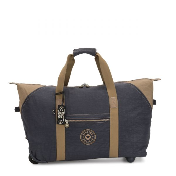 ART ON WHEELS M Night Grey Block CARRY ON by Kipling Front