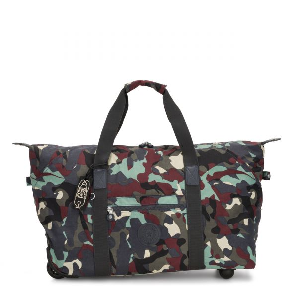 ART ON WHEELS M Camo Large CARRY ON by Kipling Front