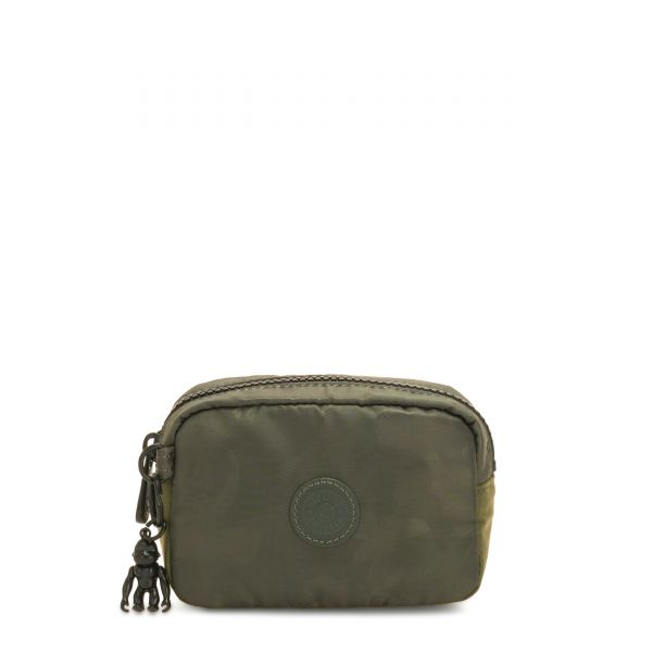 GLEAM S Satin Camo POUCHES/CASES by Kipling Front