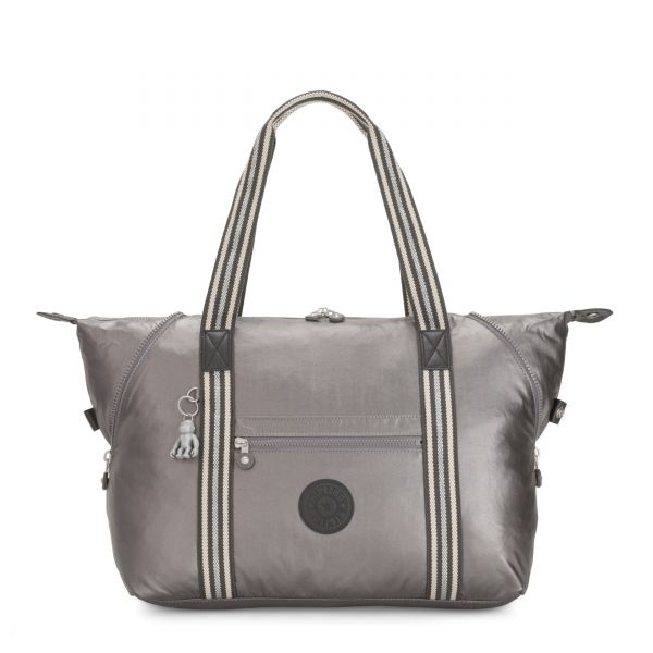 ART M Carbon Metallic TOTE by Kipling Front