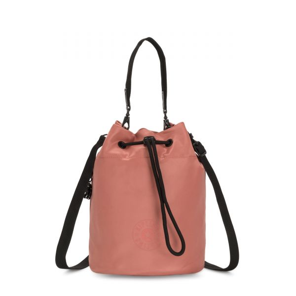LABI Satin Rust SHOULDERBAGS by Kipling Front