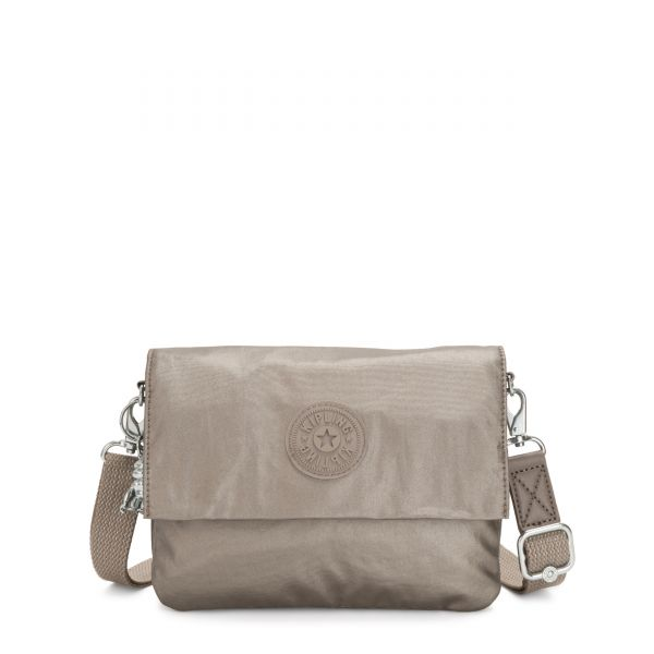 OSYKA Metallic Pewter Gifting CROSSBODY by Kipling Front
