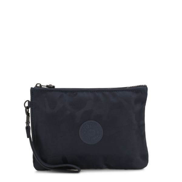 ELLETTRONICO Satin Camo Blue POUCHES/CASES by Kipling Front