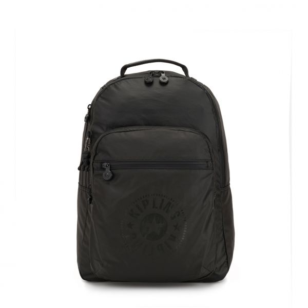 CLAS SEOUL Raw Black BACKPACKS by Kipling Front