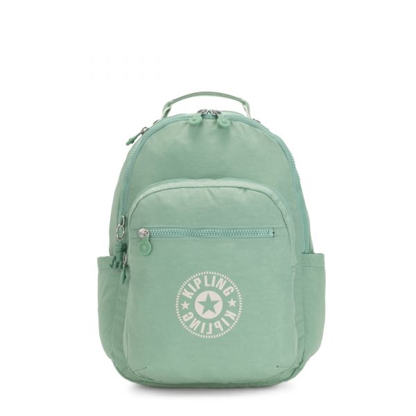 SEOUL Frozen Mint BACKPACKS by Kipling Front