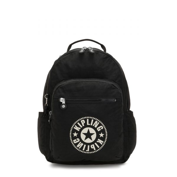 SEOUL Lively Black BACKPACKS by Kipling Front