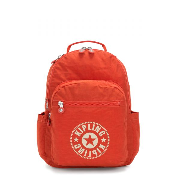 SEOUL Funky Orange Nc BACKPACKS by Kipling Front