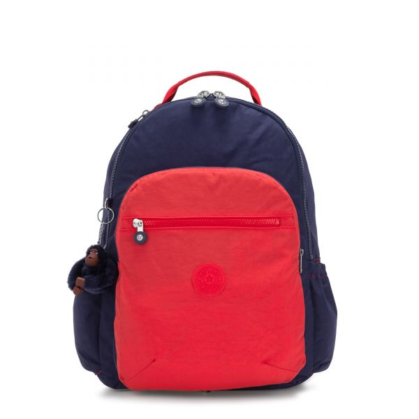 SEOUL SWITCH Polished Blue Bl BACKPACKS by Kipling Front