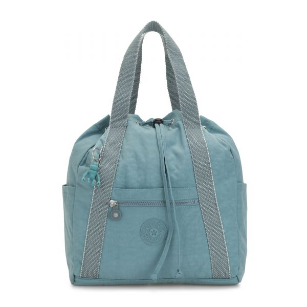 ART BACKPACK S Aqua Frost BACKPACKS by Kipling Front