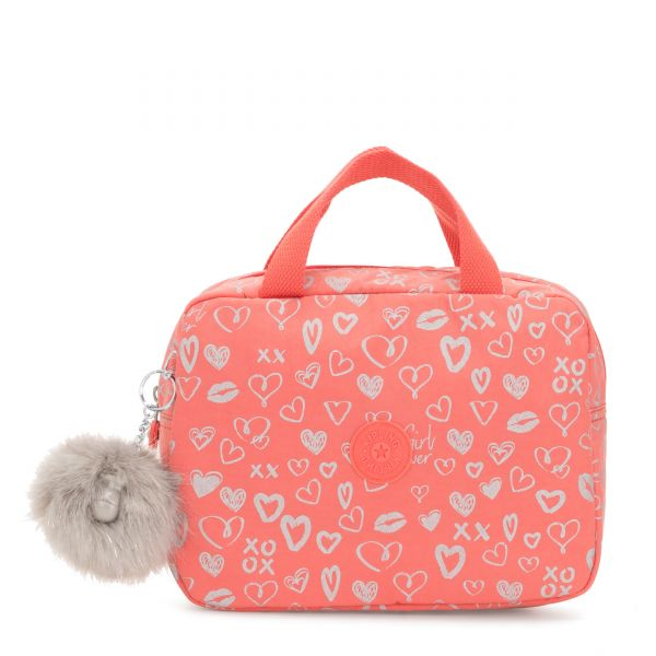 LOUNAS Hearty Pink Met POUCHES/CASES by Kipling Front