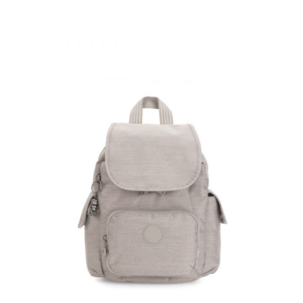 CITY PACK MINI Grey Beige Peppery BACKPACKS by Kipling Front