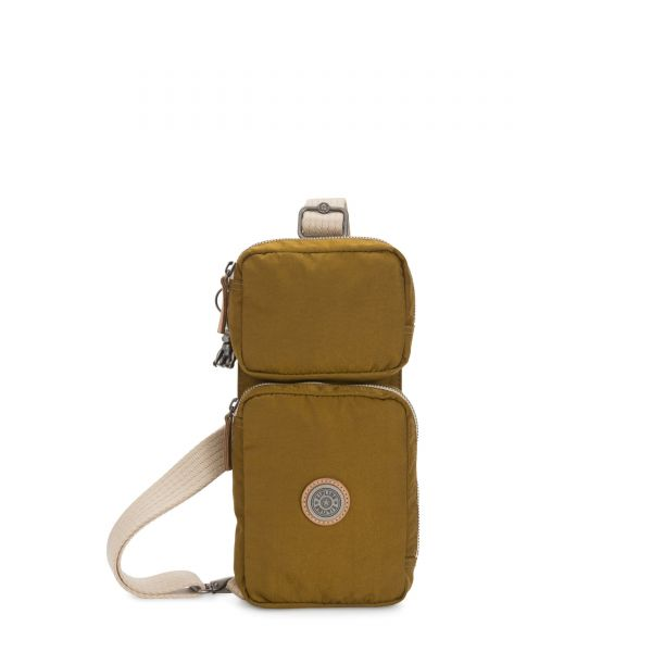OVANDO Mustard Green CROSSBODY by Kipling Front
