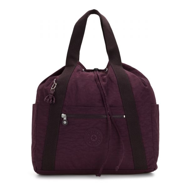 ART BACKPACK M Dark Plum BACKPACKS by Kipling Front