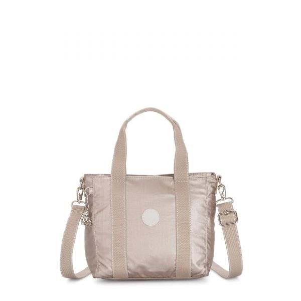 ASSENI MINI Metallic Glow TOTE by Kipling Front