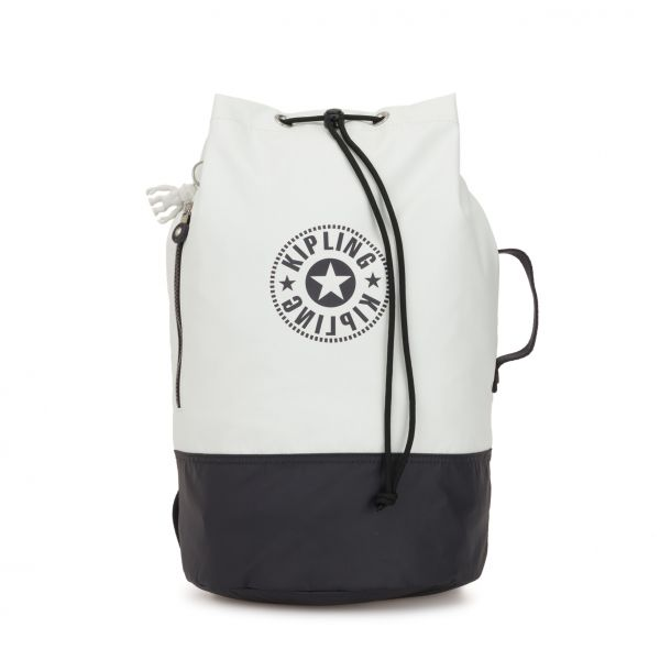 ETOKO White Blue Bl BACKPACKS by Kipling Front