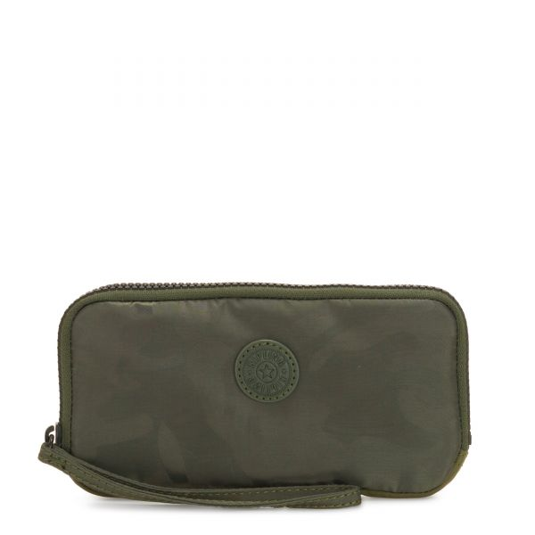 ZORA Satin Camo WALLETS by Kipling Front