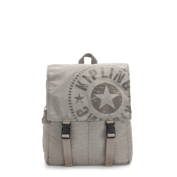 LEONIE Rapid Grey BACKPACKS by Kipling Front