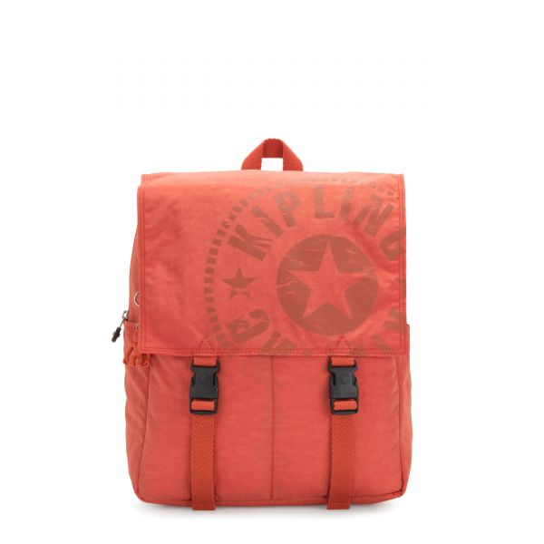 LEONIE Hearty Orange BACKPACKS by Kipling Front