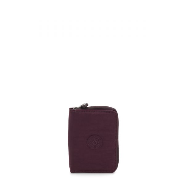 MONEY LOVE Dark Plum WALLETS by Kipling Front