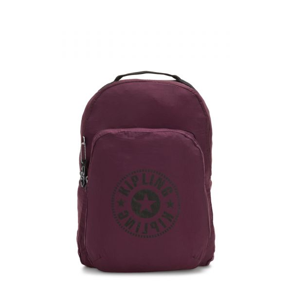 SEOUL PACKABLE Plum Light BACKPACKS by Kipling Front