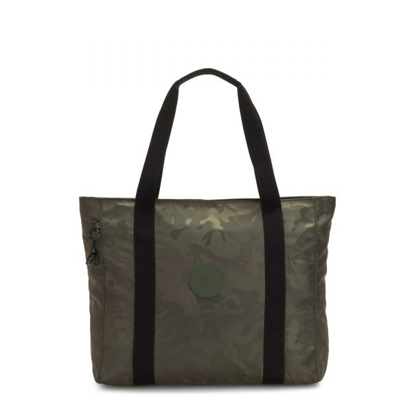 ASSENI Satin Camo TOTE by Kipling Front