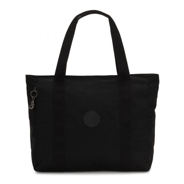 ASSENI Rich Black TOTE by Kipling Front