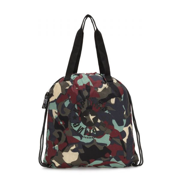 HIPHURRAY PACKABLE Camo Large Light TOTE by Kipling Front