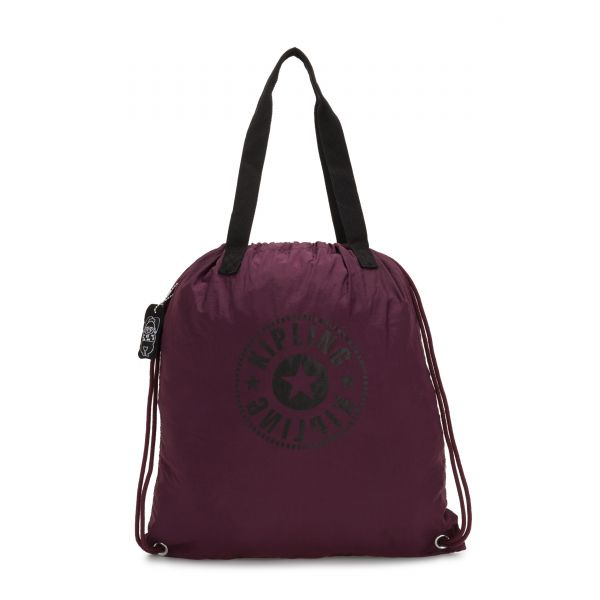 HIPHURRAY PACKABLE Plum Light TOTE by Kipling Front
