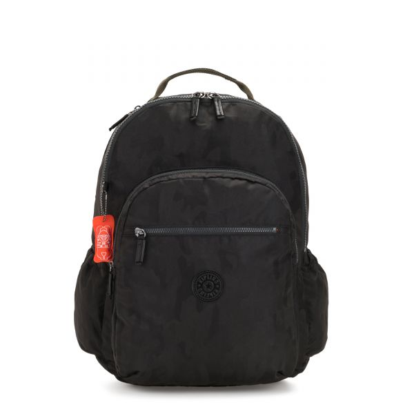 SEOUL GO XL Camo Black BACKPACKS by Kipling Front