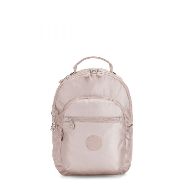 SEOUL S Metallic Rose BACKPACKS by Kipling Front