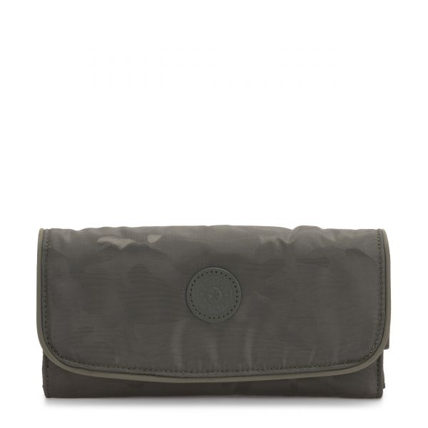 MONEY LAND Satin Camo WALLETS by Kipling Front