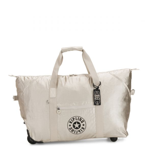 ART ON WHEELS M Cloud Metal Combo CARRY ON by Kipling Front