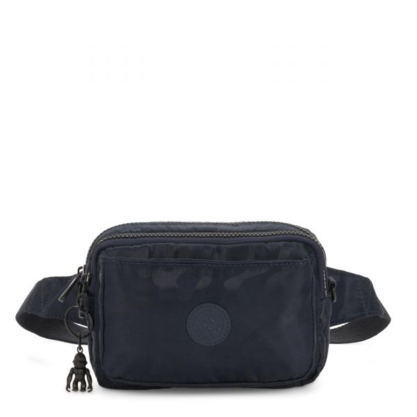 ABANU MULTI Satin Camo Blue CROSSBODY by Kipling Front