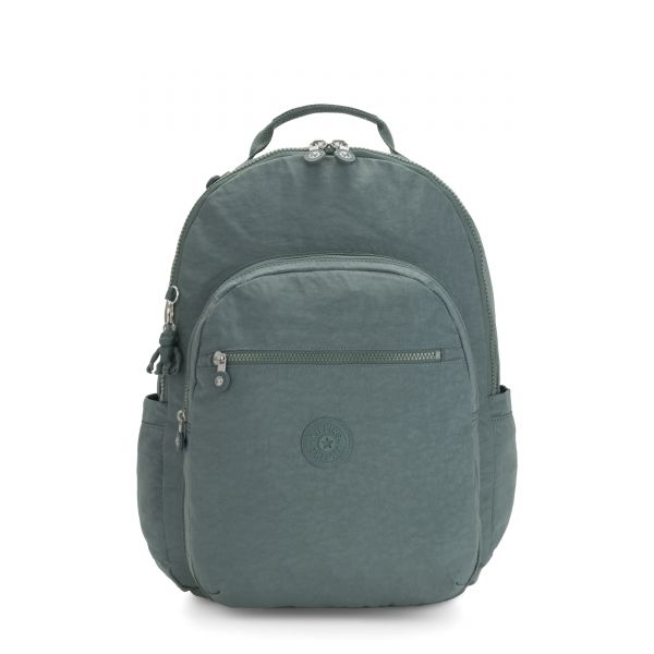 SEOUL XL Light Aloe BACKPACKS by Kipling Front