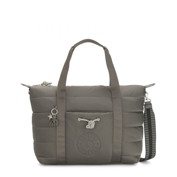 PUFF ART Mountain Grey TOTE by Kipling Front