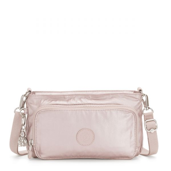 MYRTE Metallic Rose CROSSBODY by Kipling Front
