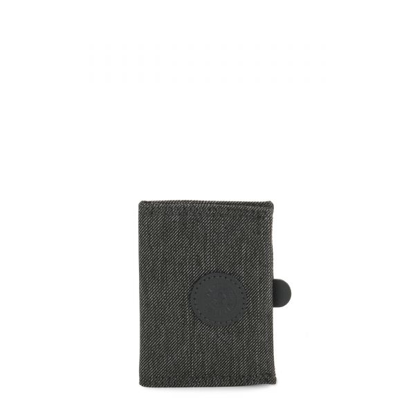 CARD KEEPER Black Indigo WALLETS by Kipling Front