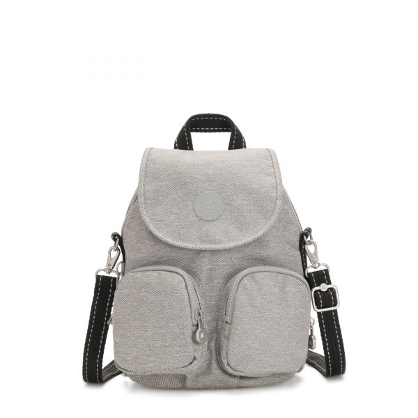 FIREFLY UP Chalk Grey BACKPACKS by Kipling Front