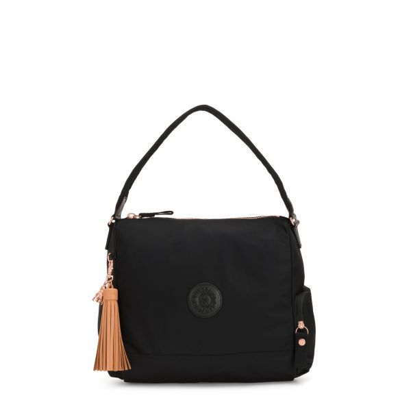 ISMAY Rose Black TOTE by Kipling Front