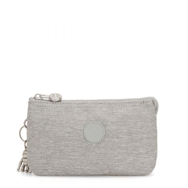 CREATIVITY L Chalk Grey POUCHES/CASES by Kipling Front